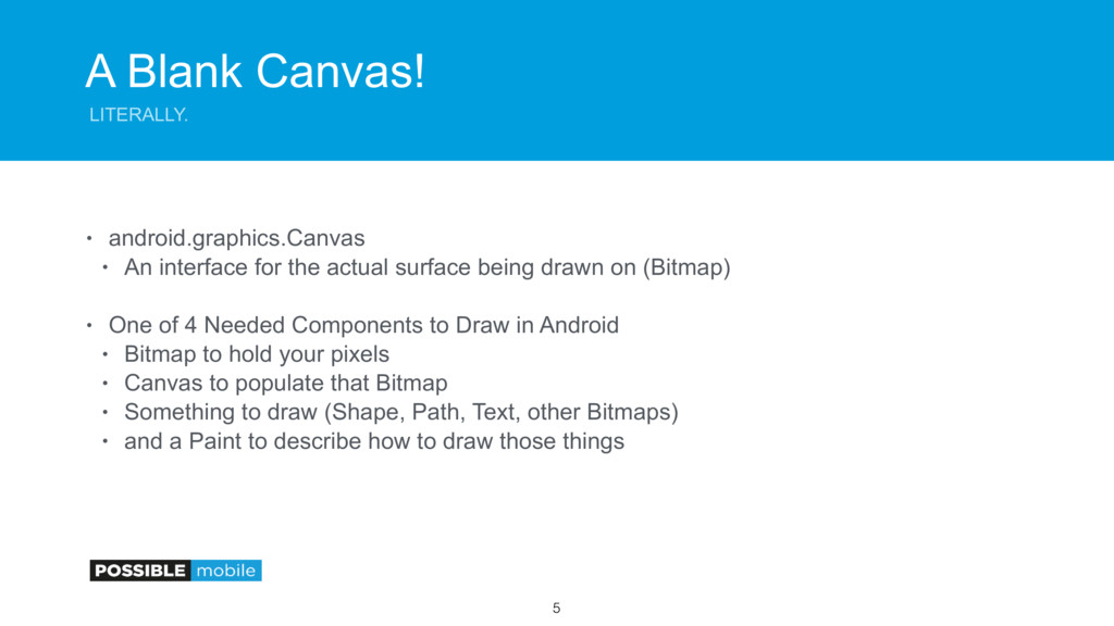 A Blank Canvas! LITERALLY. • android.graphics.C...