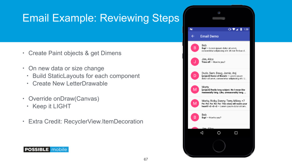 Email Example: Reviewing Steps • Create Paint o...