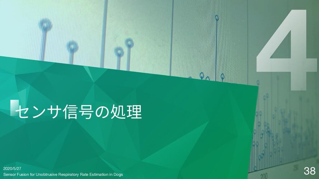 2020/5/27 センサ信号の処理 38 Sensor Fusion for Unobtru...