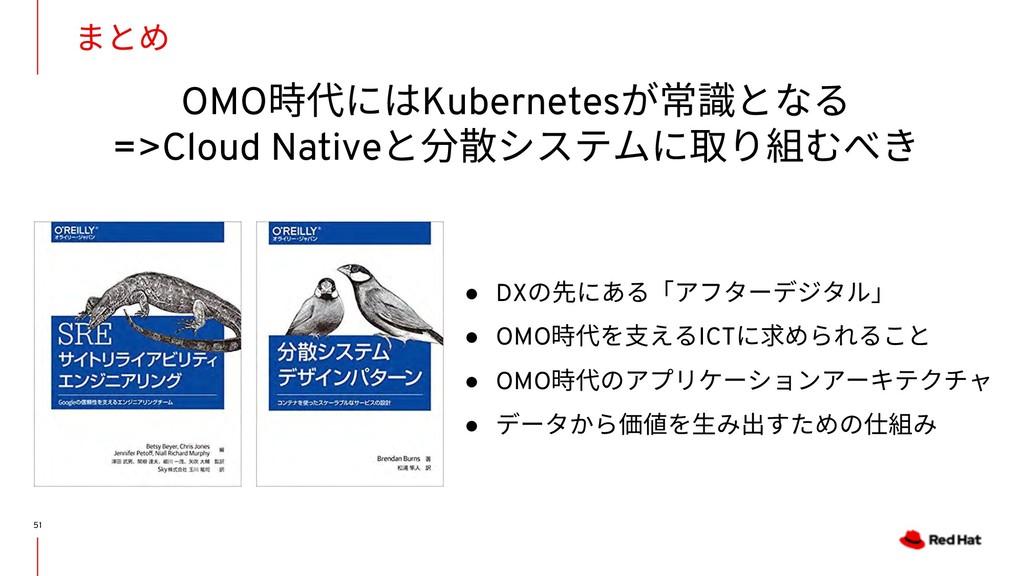 OMO時代にはKubernetesが常識となる =>Cloud Nativeと分散システムに取...