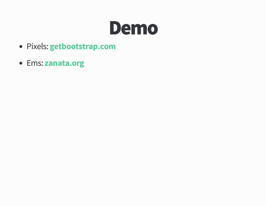 Demo Pixels Ems getbootstrap com zanata org