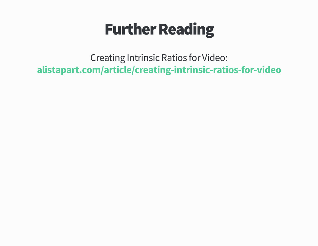 Further Reading Creating Intrinsic Ratios for V...