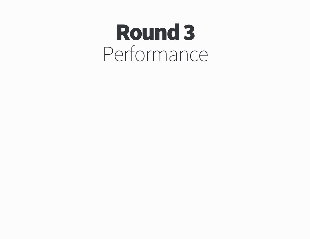 Round Performance