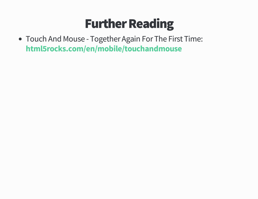 Further Reading Touch And Mouse Together Again ...