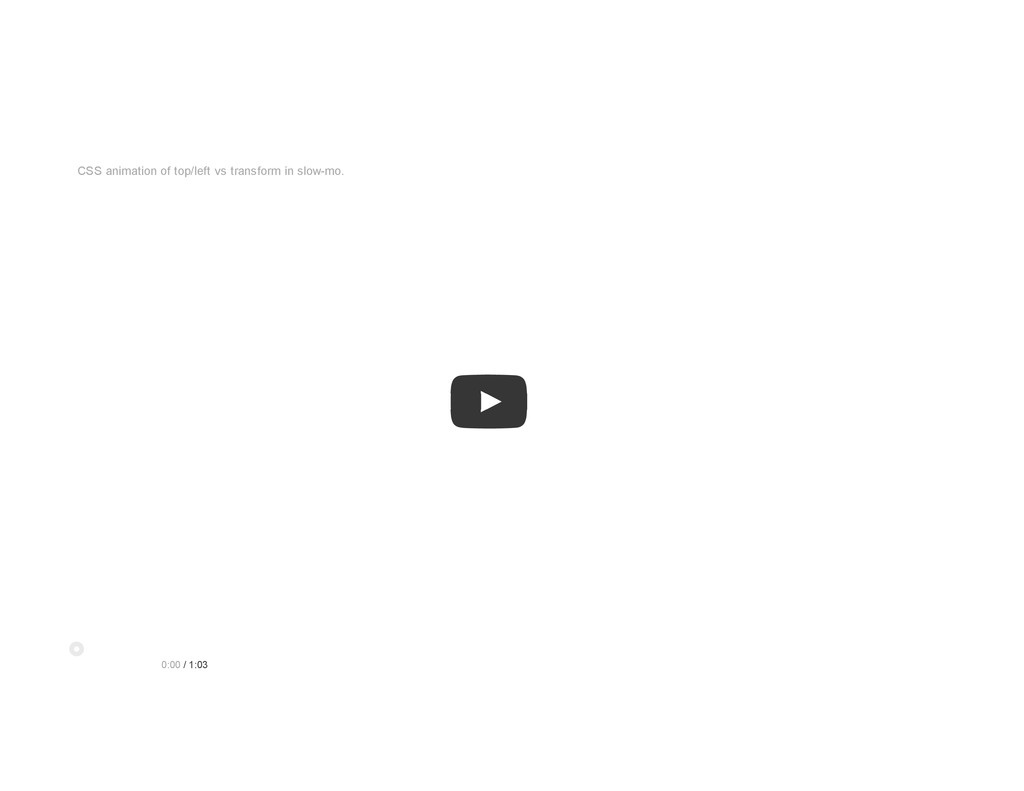 Demo CSS animation of top/left vs transform in ...