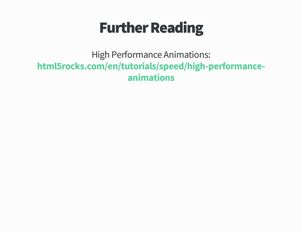 Further Reading High Performance Animations htm...