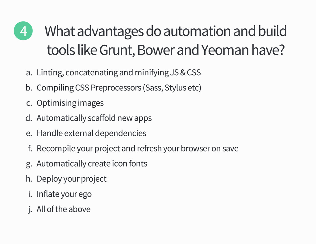 What advantages do automation and build tools l...