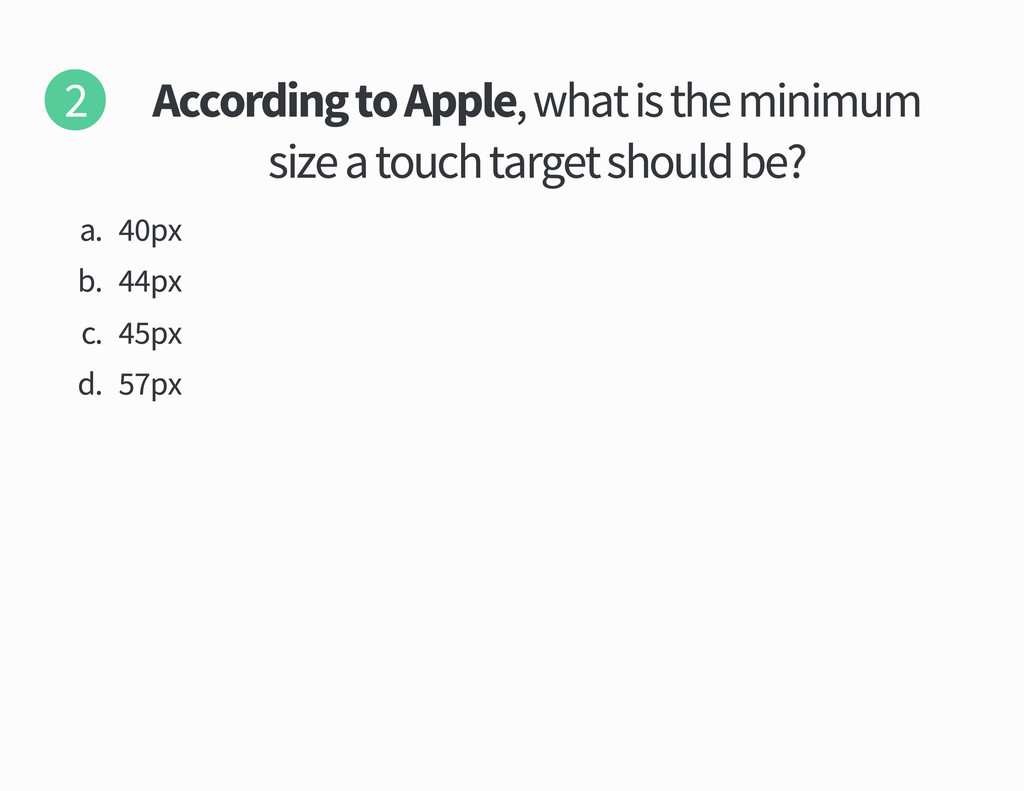 According to Apple what is the minimum size a t...
