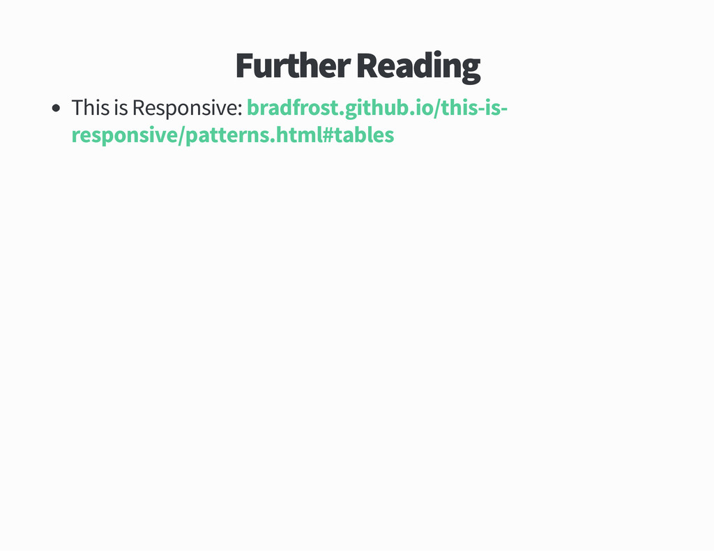 Further Reading This is Responsive bradfrost gi...