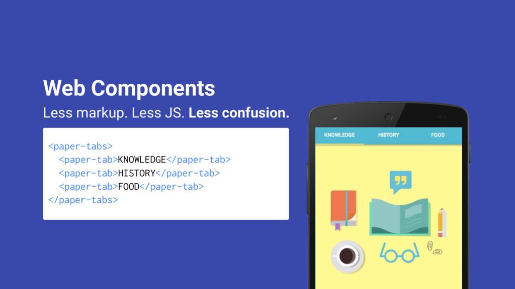 <paper-tabs> <paper-tab>KNOWLEDGE</paper-tab> <...