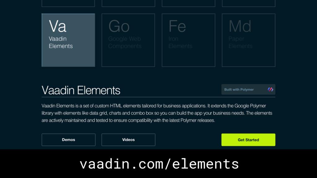 vaadin.com/elements