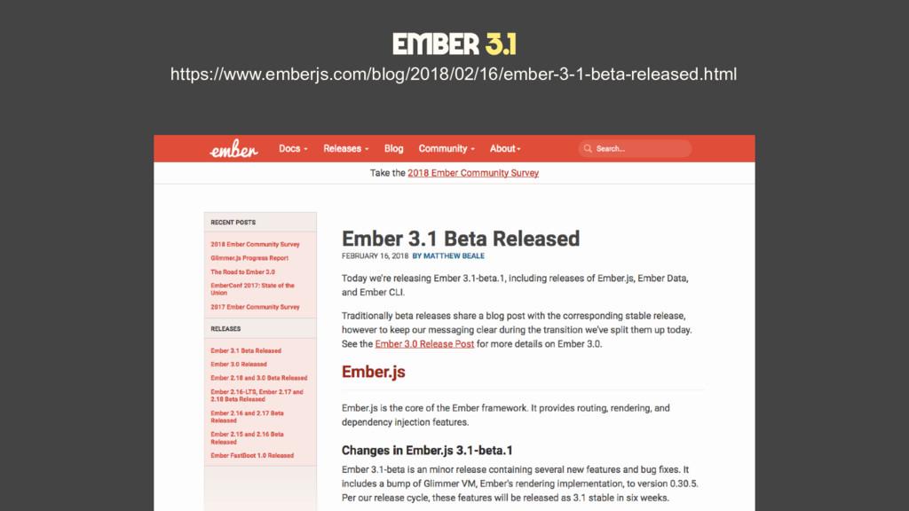 Ember 3.1 https://www.emberjs.com/blog/2018/02/...