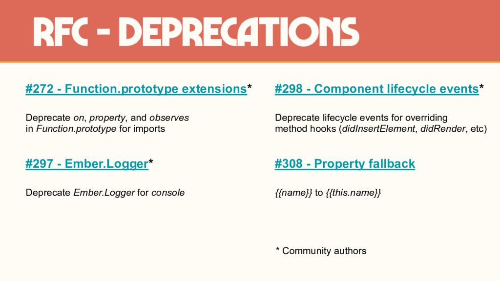 #272 - Function.prototype extensions* Deprecate...