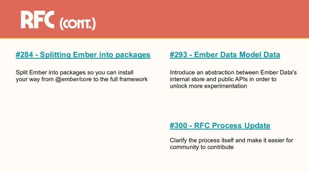 #284 - Splitting Ember into packages Split Embe...