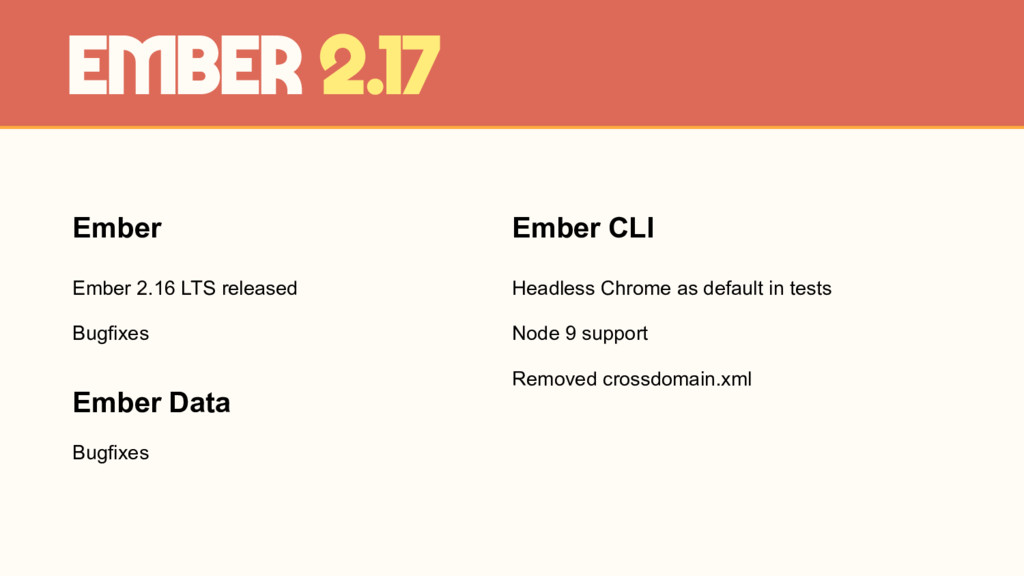 Ember Ember 2.16 LTS released Bugfixes Ember 2....