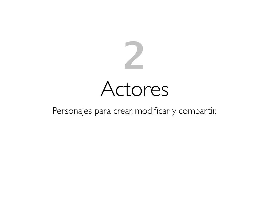Actores Personajes para crear, modificar y compa...