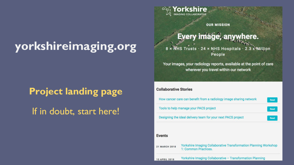 yorkshireimaging.org Project landing page If in...