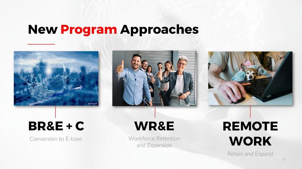 BR&E + C WR&E REMOTE WORK New Program Approache...