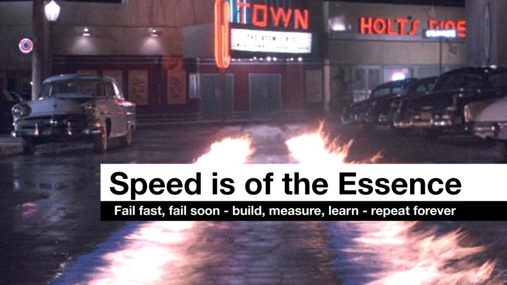 Speed is of the Essence Fail fast, fail soon - ...