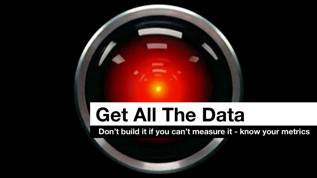 Get All The Data Don't build it if you can't me...