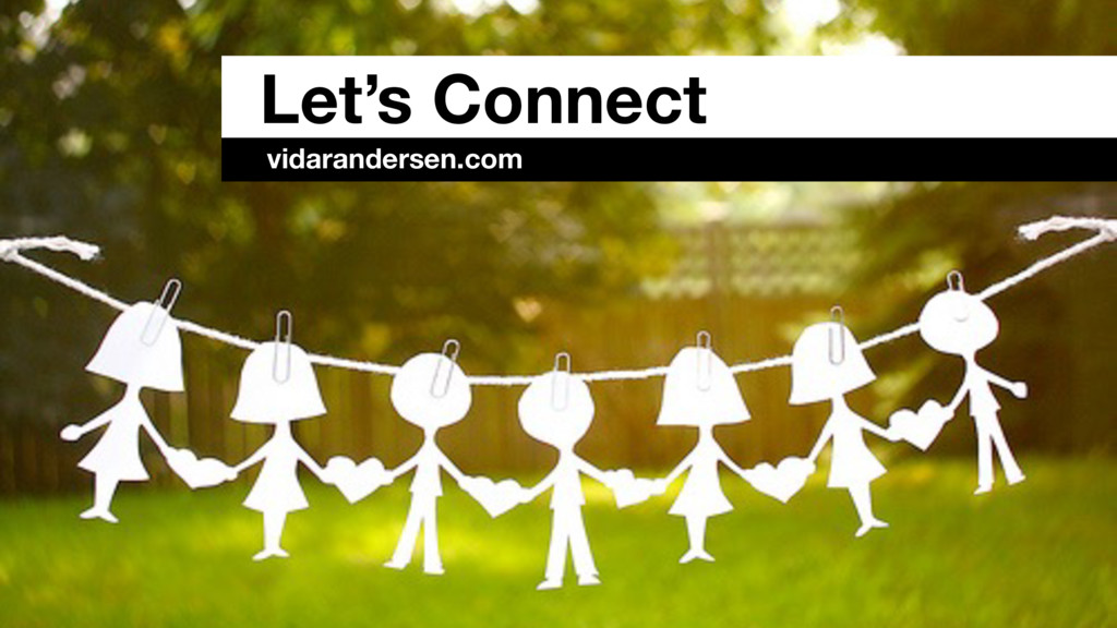 Let's Connect vidarandersen.com