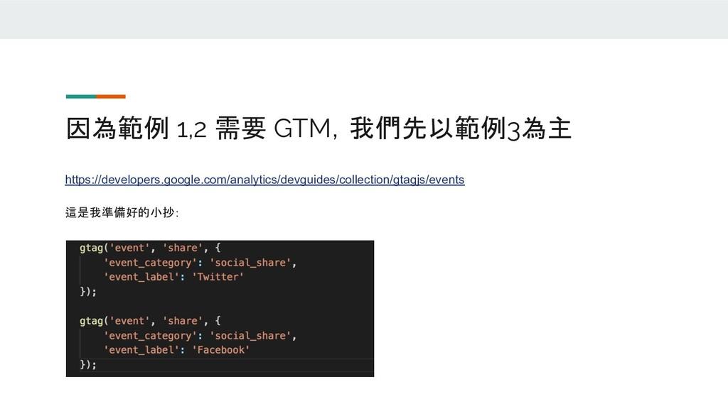 因為範例 1,2 需要 GTM,我們先以範例3為主 https://developers.go...