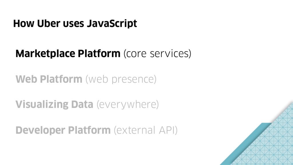 How Uber uses JavaScript Marketplace Platform (...