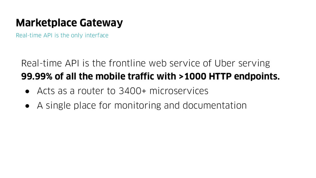Real-time API is the frontline web service of U...