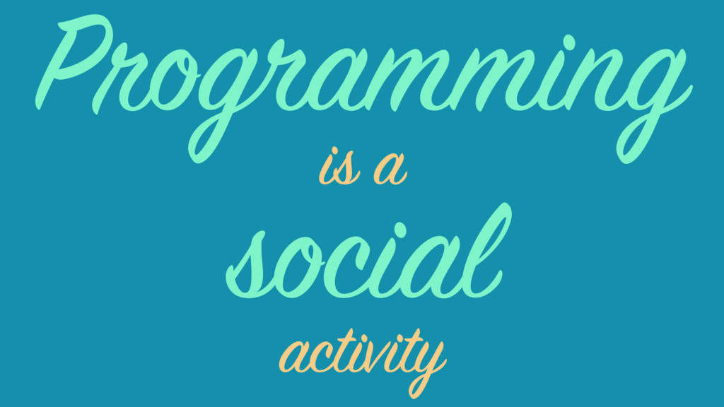social is a activity Programming
