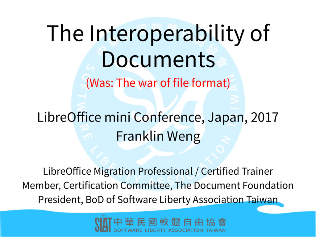 The Interoperability of Documents (Was: The war...