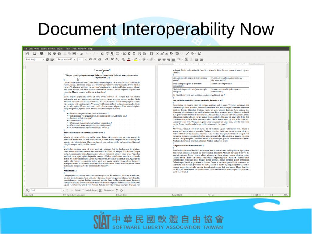 Document Interoperability Now