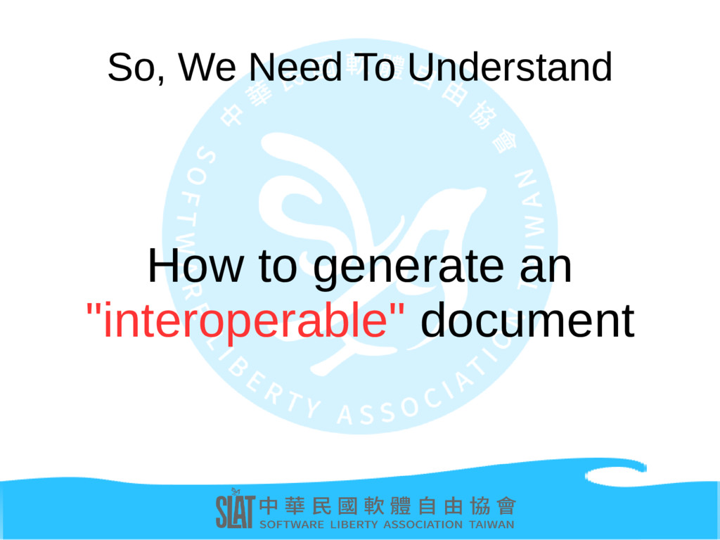 """So, We Need To Understand How to generate an """"i..."""