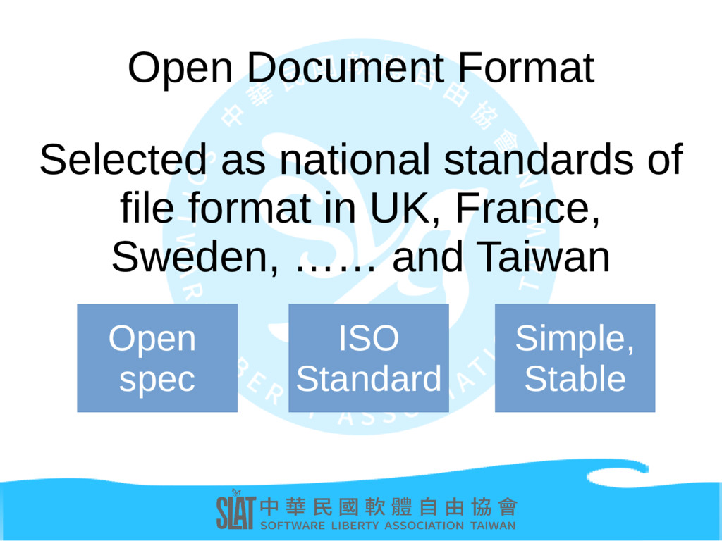 Open Document Format Selected as national stand...