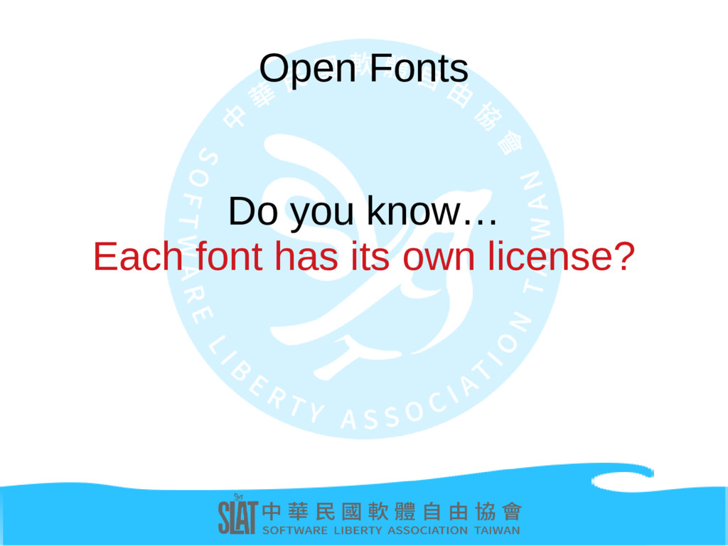 Open Fonts Do you know… Each font has its own l...