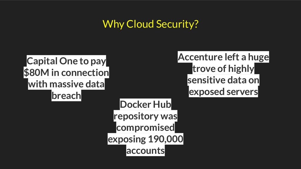 Why Cloud Security? Capital One to pay $80M in ...