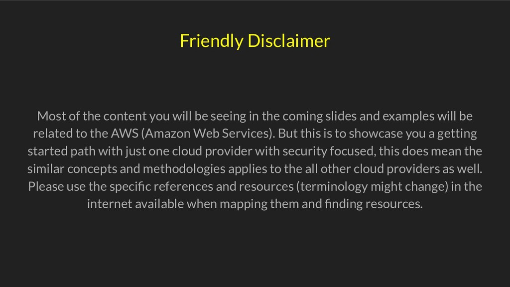 Friendly Disclaimer Most of the content you wil...