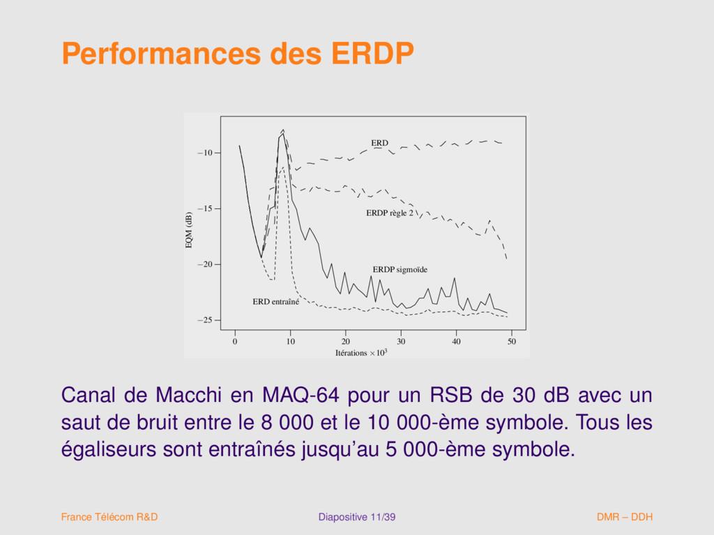 Performances des ERDP ERD ERD entraîné ERDP règ...