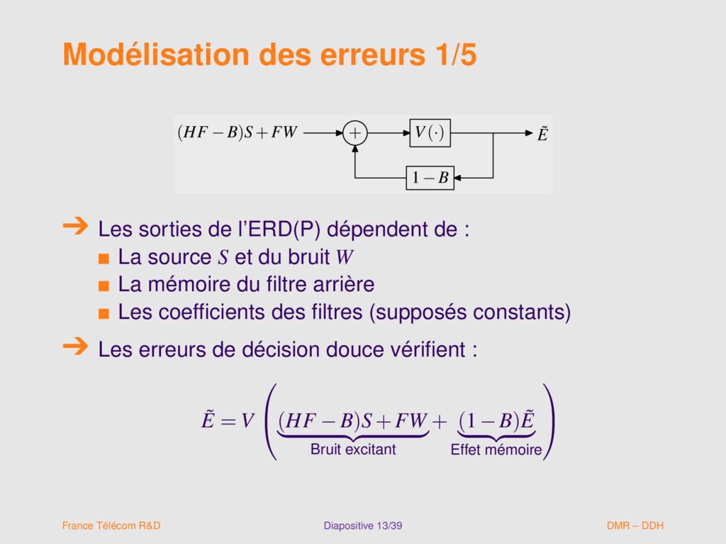 Modélisation des erreurs 1/5 (HF −B)S+FW + V(·)...