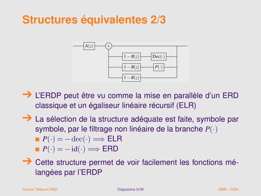 Structures équivalentes 2/3 A(z) + 1−B(z) Dec(·...