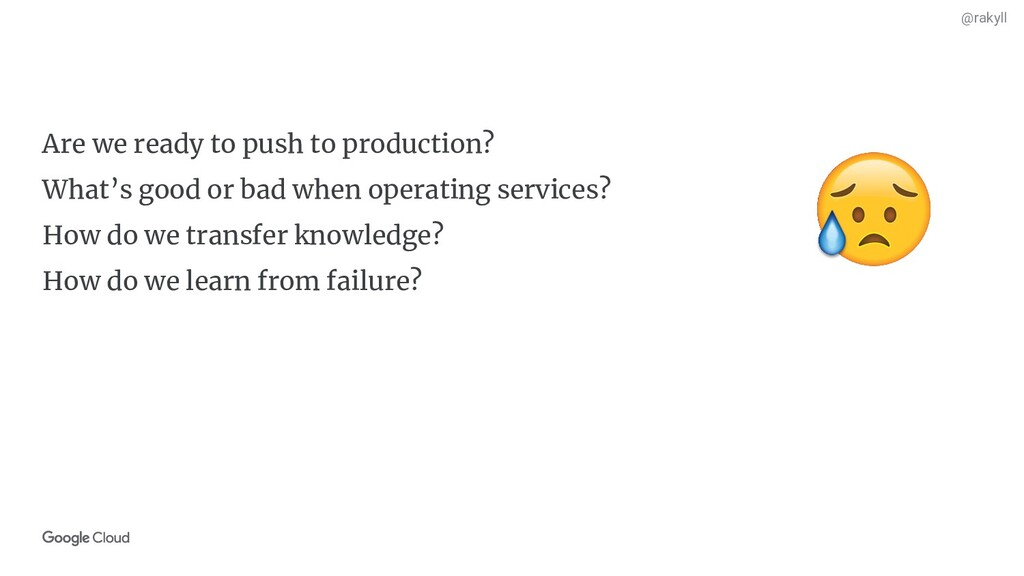 @rakyll Are we ready to push to production? Wha...