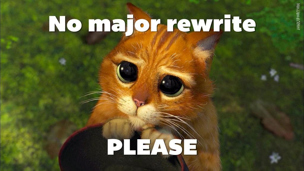 No major rewrite https://goo.gl/SfHtmY PLEASE