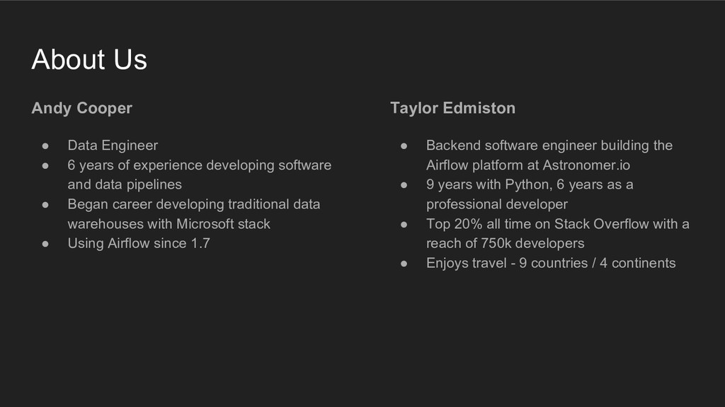 Taylor Edmiston ● Backend software engineer bui...