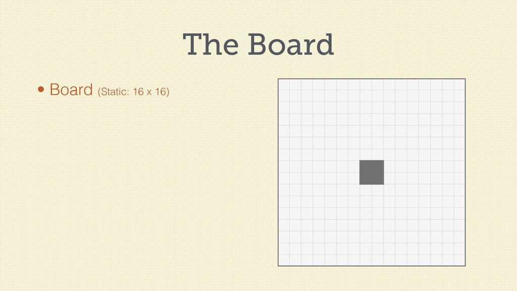 The Board • Board (Static: 16 x 16)