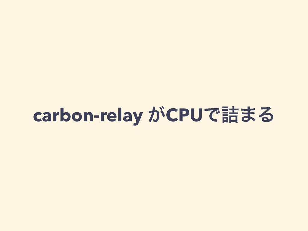 carbon-relay ͕CPUͰ٧·Δ