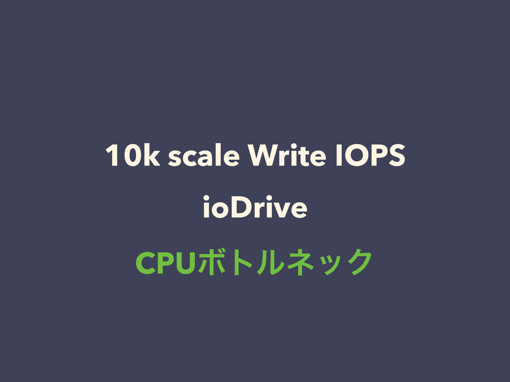 10k scale Write IOPS ioDrive CPUϘτϧωοΫ