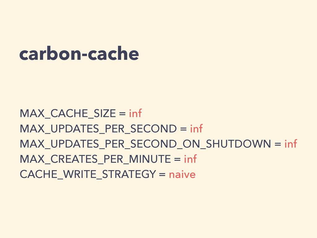 carbon-cache MAX_CACHE_SIZE = inf MAX_UPDATES_P...
