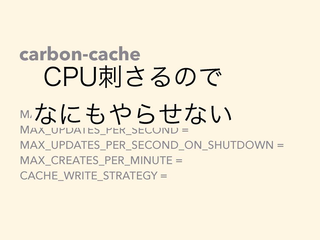 carbon-cache MAX_CACHE_SIZE = MAX_UPDATES_PER_S...