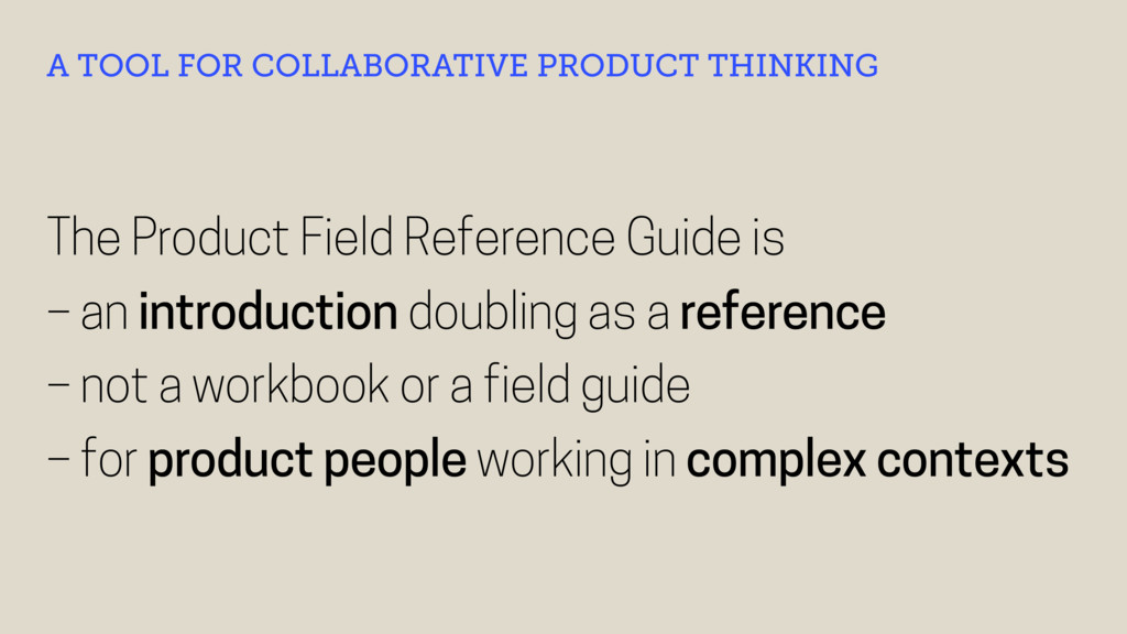 The Product Field Reference Guide is – an intro...