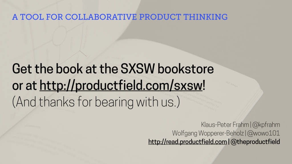 Get the book at the SXSW bookstore or at http:/...