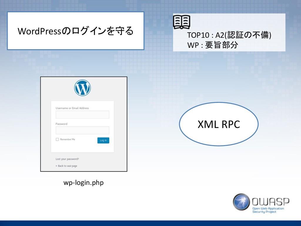 WordPress  XML RPC wp-login.php TOP10 : ...